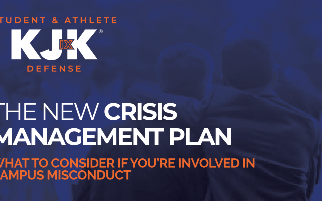 Title IX and Campus Misconduct Crisis Management Plan